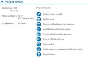 130 km 2016 Gelderse heuvelentocht kosten ntfu