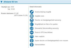 90 km 2016 Gelderse heuvelentocht kosten ntfu